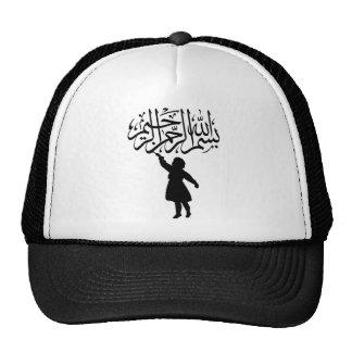 Silueta Bismillah islámico del pequeño niño Gorro