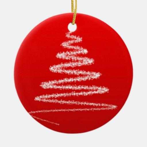 Silueta blanca del árbol de navidad ornaments para arbol de navidad