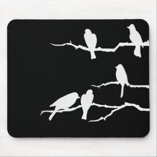 Silueta blanca Mousepad del pájaro Alfombrillas De Ratones