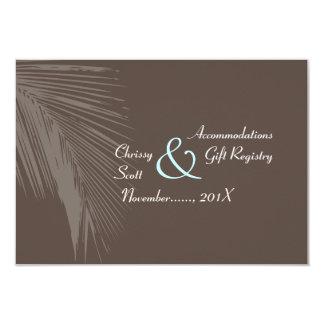Silueta/cacao de las frondas de la palma de invitaciones personalizada