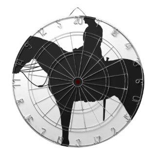 Silueta canadiense del Mountie Tabla Dardos