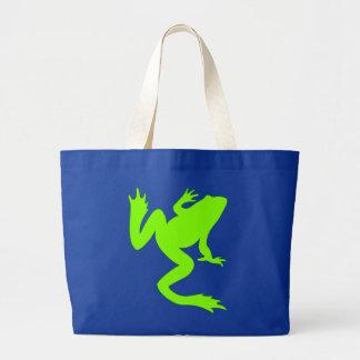 Silueta chartreuse de la rana verde de la rana bolsa