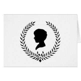 Silueta clásica tarjeta de felicitación