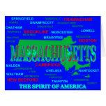 Silueta colorida del mapa del orgullo del estado felicitación