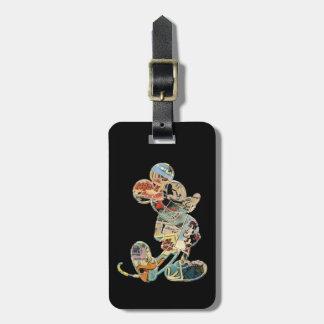 Silueta cómica clásica de Mickey el   Etiquetas Para Maletas