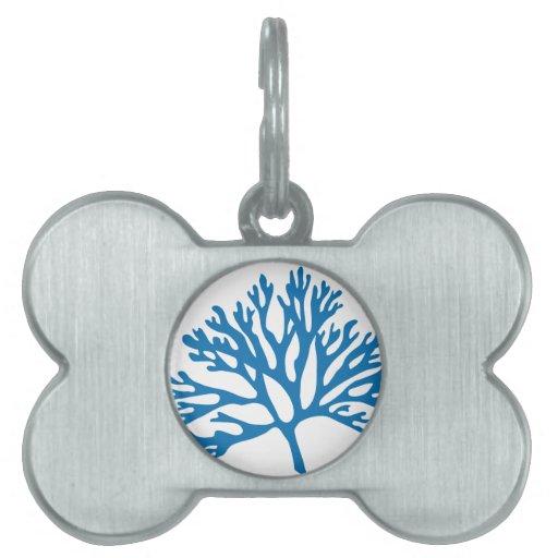 silueta coralina azul placa mascota