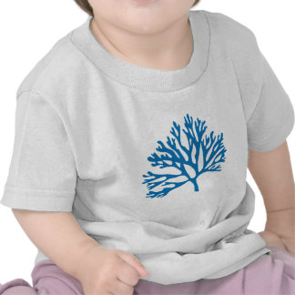 silueta coralina azul camisetas