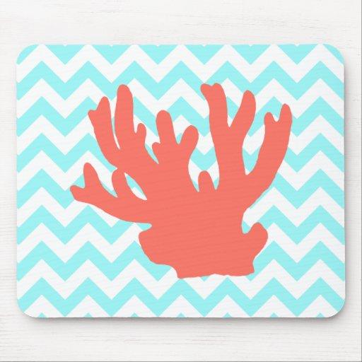 Silueta coralina mouse pads