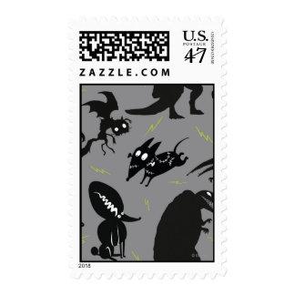 Silueta corriente vivaracha timbres postales