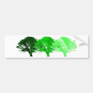 Silueta de 3 árboles pegatina para auto