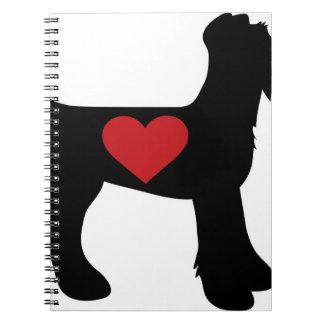 Silueta de Airedale Terrier Cuaderno