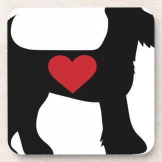 Silueta de Airedale Terrier Posavasos