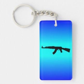 Silueta de AK-47 Llavero Rectangular Acrílico A Doble Cara