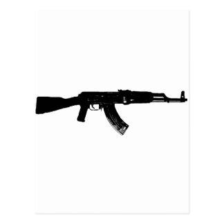 Silueta de AK-47 Postal