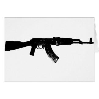 Silueta de AK-47 Tarjeta De Felicitación