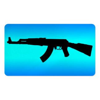 Silueta de AK-47 Tarjetas De Visita