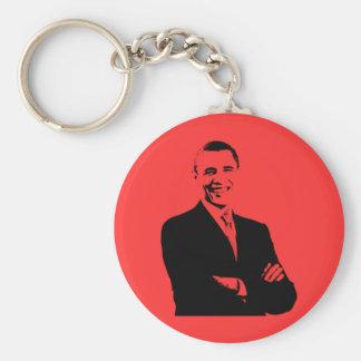 Silueta de Barack Obama Llavero Redondo Tipo Pin
