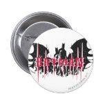 Silueta de Batman Pin Redondo 5 Cm
