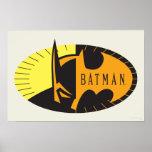 Silueta de Batman Póster
