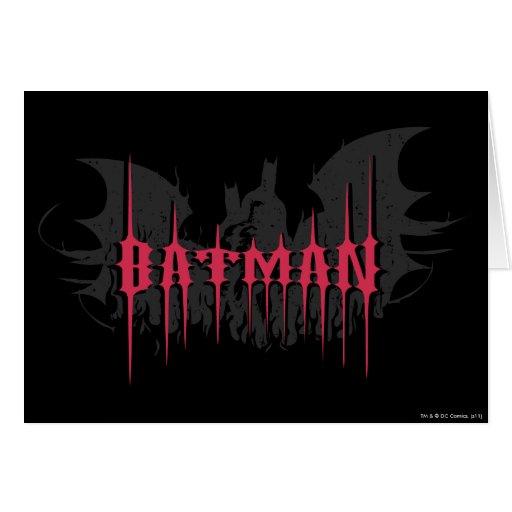 Silueta de Batman Tarjeta De Felicitación