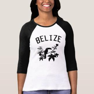 Silueta de Belice Toucan Camisetas