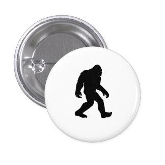 Silueta de Bigfoot Pin Redondo De 1 Pulgada