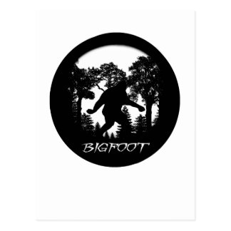 Silueta de Bigfoot Postales
