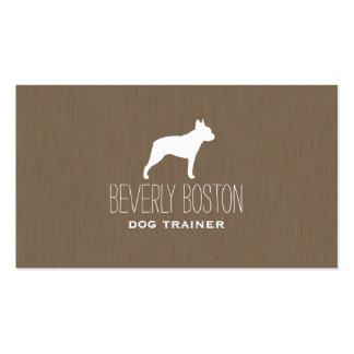Silueta de Boston Terrier Tarjetas De Visita