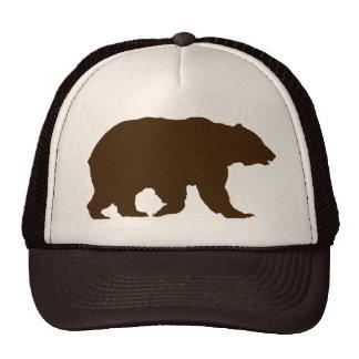 Silueta de Brown del oso grizzly del gorra del oso