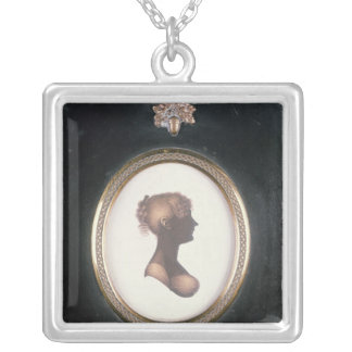 Silueta de Cassandra Austen, c.1809 Pendiente Personalizado