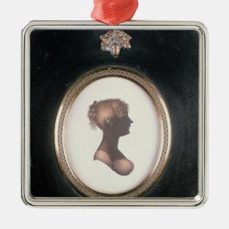 Silueta de Cassandra Austen, c.1809 Ornamentos De Navidad