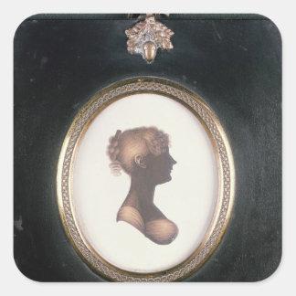 Silueta de Cassandra Austen, c.1809 Colcomanias Cuadradas