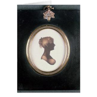 Silueta de Cassandra Austen, c.1809 Felicitación
