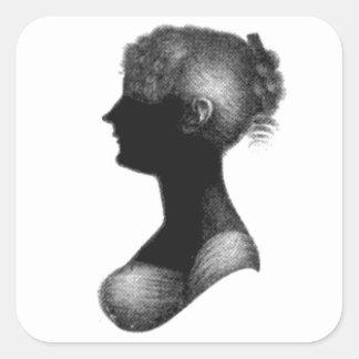Silueta de Cassandra Austen Colcomanias Cuadradass