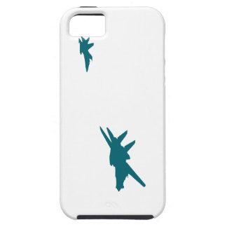 Silueta de dos jets funda para iPhone SE/5/5s