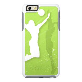 Silueta de dos mujeres que juegan a voleibol funda otterbox para iPhone 6/6s plus