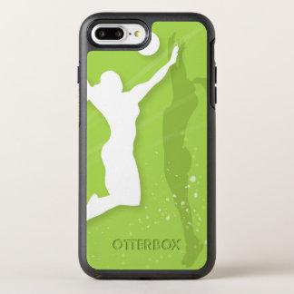 Silueta de dos mujeres que juegan a voleibol funda OtterBox symmetry para iPhone 7 plus