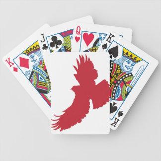 Silueta de Eagle Baraja Cartas De Poker