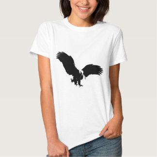 Silueta de Eagle calvo Camisas
