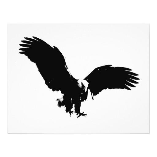 """Silueta de Eagle calvo Folleto 8.5"""" X 11"""""""