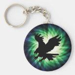 Silueta de Eagle calvo; Fresco Llavero Personalizado