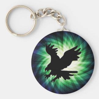 Silueta de Eagle calvo Fresco Llavero Personalizado