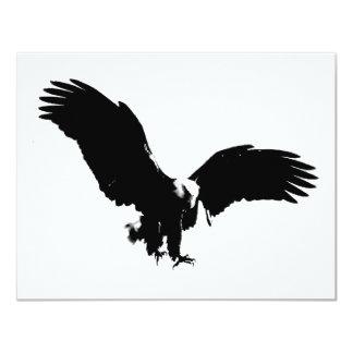 """Silueta de Eagle calvo Invitación 4.25"""" X 5.5"""""""