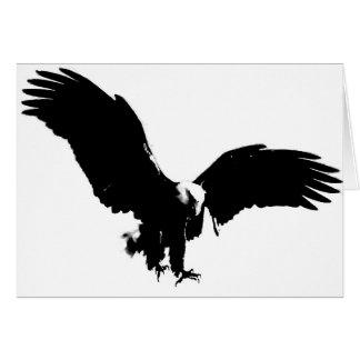 Silueta de Eagle calvo Tarjeta De Felicitación