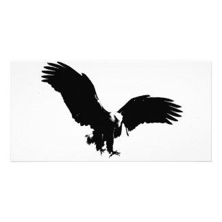 Silueta de Eagle calvo Tarjeta Personal Con Foto