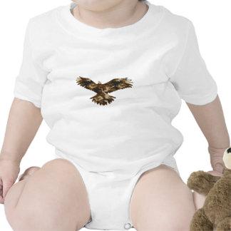 Silueta de Eagle del camuflaje Traje De Bebé