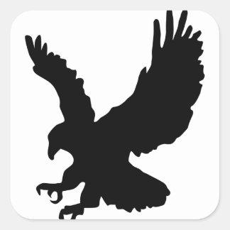 Silueta de Eagle Pegatina Cuadradas