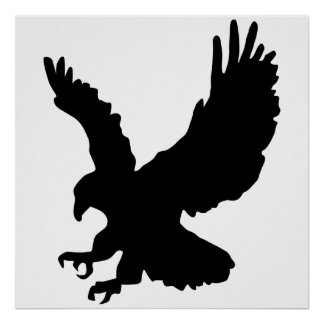 Silueta de Eagle Póster