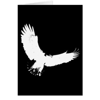 Silueta de Eagle Tarjeta De Felicitación