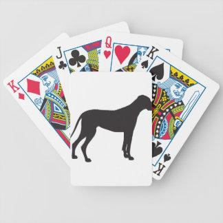 Silueta de great dane baraja de cartas